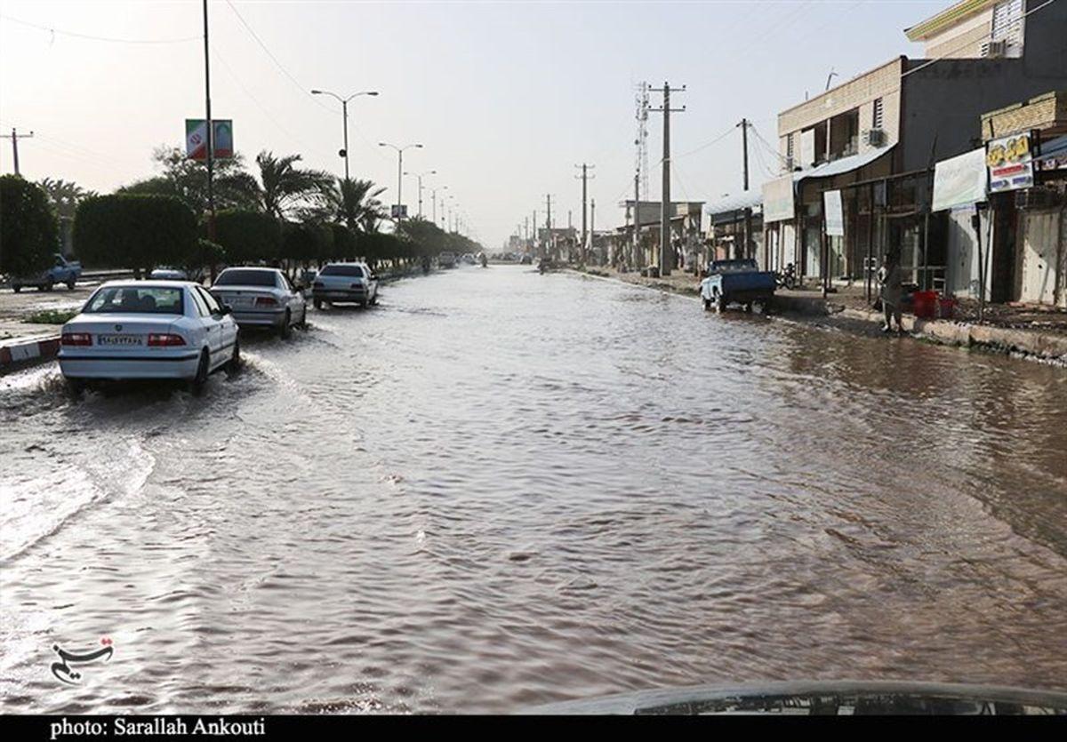 وقوع سیلاب شدید در شهرستان «بافت» کرمان + فیلم