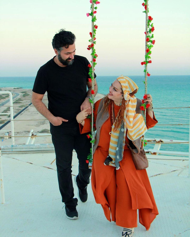 فیلم عاشقانه و جنجالی بهاره رهنما و حاجی