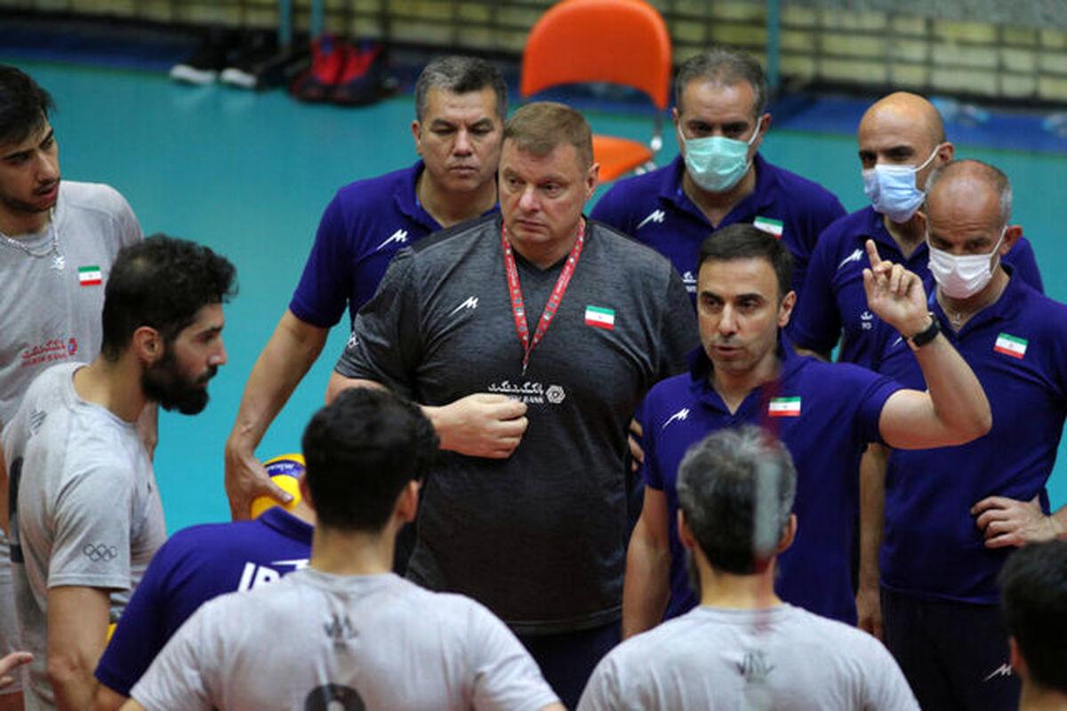 جدول بازی های ایران در لیگ ملت های ۲۰۲۱ والیبال