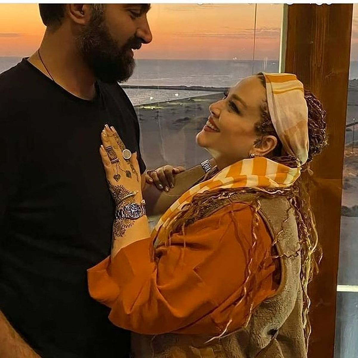 عاشقانه های بهاره رهنما و همسرش+عکس